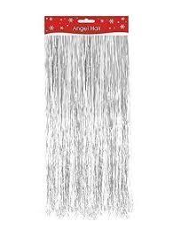 shredded mylar silver christmas decoration angel hair tinsel