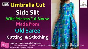 umbrella pattern salwar umbrella cut side slit kurti with princess cut blouse how to make