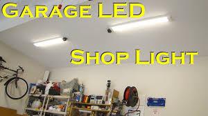 lights of america led shop light led garage lighting ideas hyper tough 4 foot hanging shop light 2