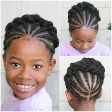 very cute braided updo style for little naturals kiddie styles