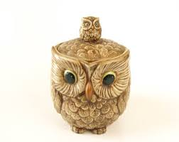 owl kitchen canisters vintage owl canisters etsy