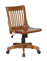 Armless Swivel Desk Chair by Unique Wood Office Chair For Home Design Ideas With Wood Office