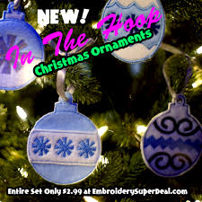 in the hoop feltie ornaments entire pack of 12 only