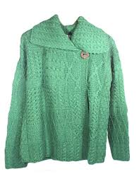 new aran cardigan sweater merino wool womens irish made carraig