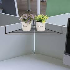 Corner Shelf Desk Shelf Corner Shelf For Cubicle Deskcubicle That Rests On