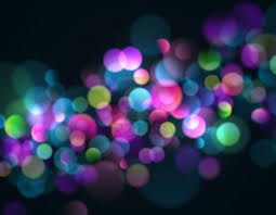 blurry lights background with colorful sparkling lights stock
