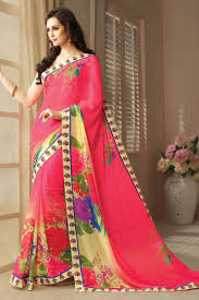 pink designer party wear sarees from onlinesareessshopping com