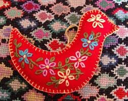 how to make an embroidered felt ornament s creations