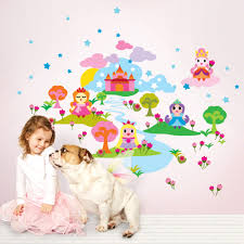 colorful decorations wall candy decals french bull cupcake colorful decorations wall candy decals french bull cupcake decorations girlish dog animal castle disney princess