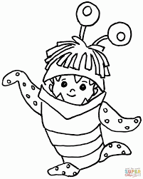 monster boo coloring pages coloring