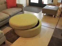 yellow storage ottoman round u2014 home ideas collection yellow
