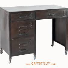 bureau bois acier bureau bois métal bureau en bois et métal
