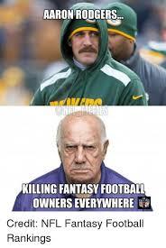 Nfl Fantasy Memes - aaron rodgers killing fantasy football credit nfl fantasy football