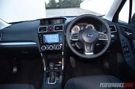 subaru forester interior 2017 2015 subaru forester 2 0d s review video performancedrive