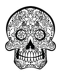 printable coloring pages sugar skulls sugar skull coloring book and sugar skull coloring pages adults