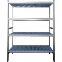 etagere pour chambre froide rayonnage aluminium anodisé clayettes polypropylène 3 niveaux