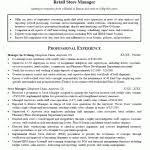 Resume Retail Manager Retail Manager Cv Template Example Retail Manager Resume Objective