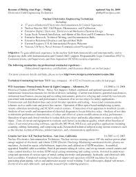 Electronic Engineering Resume Sample by Ekg Monitor Technician Resume Examples