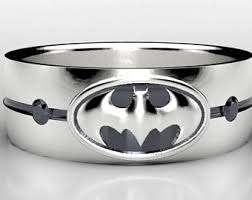 batman wedding band batman silver ring etsy
