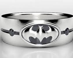 batman wedding band batman silver ring etsy