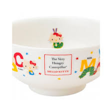 sanrio hello kitty and the very hungry caterpillar rice bowl for