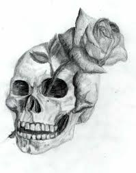 best roses and skull drawings skull tattoo designs tattoos