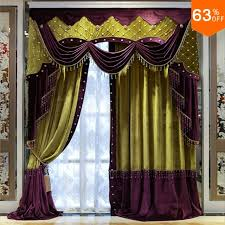 Purple Valances For Windows Ideas White Beads Purple With Yellow Patchwork Curtains For Hotel Hall