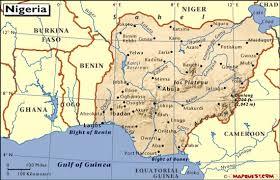 nigeria physical map nigeria map
