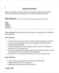 Sample Resume Formats For Freshers by Simple Resume Example For Jobs Httptopresume Infosimple How To