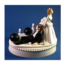 bowling cake toppers wedding cake topper bowling and chain wedding