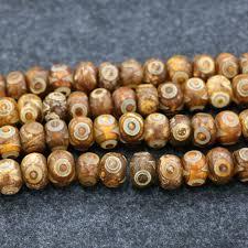 natural beads necklace images 2018 10mm 1strand natural tibetan dzi agate beads 2eyes yellow jpg