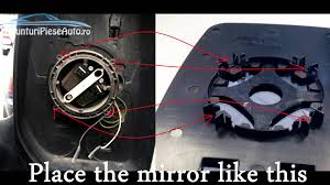 replace wing mirror glass for ford transit 2000 2014 youtube