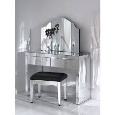 Black Vanity Table With Mirror Mirrored Makeup Storage Is A Stylish Way To Unclutter The Vanity