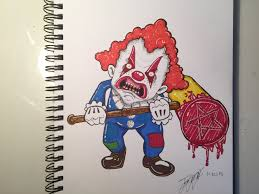 scary clown drawing youtube