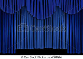 Theater Drape Stock Photo Of Bright Blue Curtain Drape Background Blue Theater