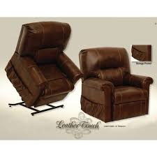 Catnapper Chaise Catnapper Vintage Leather Power Lift Full Lay Out Chaise Recliner