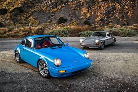 vintage porsche blue an afternoon with two vintage porsche 911s re imagined by la u0027s