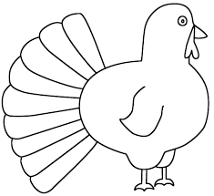 printable outline of a turkey happy thanksgiving