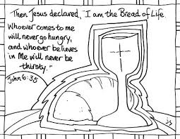 Communion Coloring Pages Bread Of Life Communion Of Saints Coloring Pages Bread
