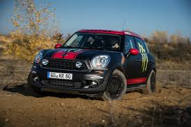 bmw rally off road mini shows off cooper countryman dakar rally support vehicle