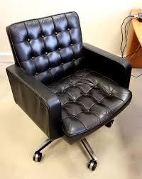 fauteuil de bureau knoll fauteuil de bureau garniture de cuir avec dossier et assise