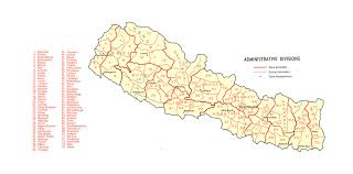 Nepal Map World by Large Detailed Administrative Divisions Map Of Nepal 1968