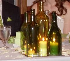 silver wine bottles silver current designs wine bottle centerpieces
