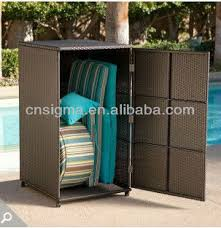 Vertical Storage Cabinet 2014 All Weather Wicker Vertical Outdoor Furniture Wicker Deck Box
