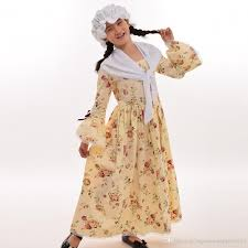 Puritan Halloween Costume Civil War Colonial Kids Costume Reenactment Child Girls Pioneer