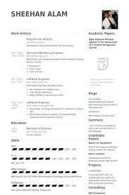 Systems Analyst Resume Sample by Programmer Analyst Resume Samples Visualcv Resume Samples Database