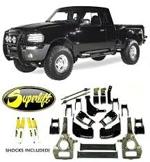 ford ranger with a lift kit superlift 3 4 suspension lift k358 fits 2000 2010 ford ranger