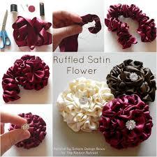 ruffled ribbon diy easy ruffled satin flower