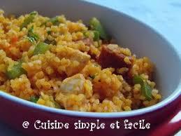cuisiner le boulgour boulgour au poulet poivron et chorizo cuisine simple et facile