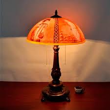 Schlafzimmer Tischlampe Aliexpress Com Kreative Retro Kunst Glas ölgemälde Tischlampen